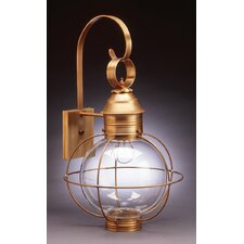 Onion Medium Base Sockets Caged Round Wall Lantern