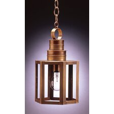 Hardwick Medium Base Socket Small Hexagon 1 Light Hanging Lantern