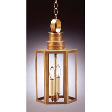 Hardwick Candelabra Sockets Hexagon 2 Light Hanging Lantern