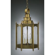 Fillmore Candelabra Base Sockets Large Hexagon 3 Light Hanging Lantern
