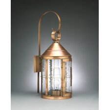 Heal 2 Candelabra Sockets Cone Top with Top Scroll Wall Lantern