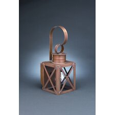 <strong>Northeast Lantern</strong> Suffolk Medium Base Sockets Can Top X-Bars Wall Lantern