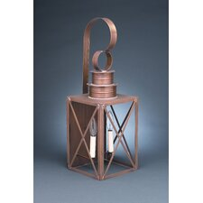 Suffolk Medium Base Sockets with Chimney Can Top X-Bars Wall Lantern