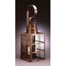 Suffolk Medium Base Sockets with Chimney Can Top H-Bars Wall Lantern
