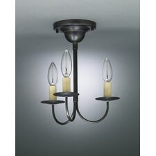 "<strong>Northeast Lantern</strong> Chandelier 12"" 3 Light Chandelier"