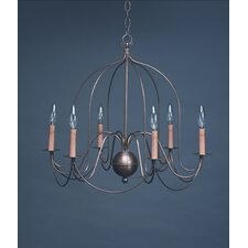 Chandelier 6 Light Candelabra Sockets Bird Cage Hanging Chandelier