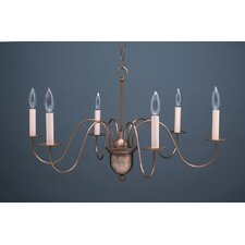 <strong>Northeast Lantern</strong> Chandelier 6 Light Candelabra Sockets Hanging Chandelier