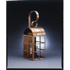 Adams 2 Candelabra Sockets Culvert Top H-Bars Large Wall Lantern