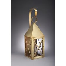 York Medium Base Socket with Chimney Pyramid Top X-Bars Wall Lantern