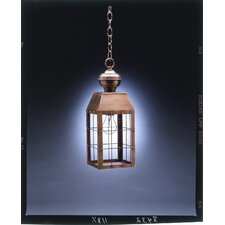 <strong>Northeast Lantern</strong> Woodcliffe Medium Base Socket H-Rod 1 Light Hanging Lantern