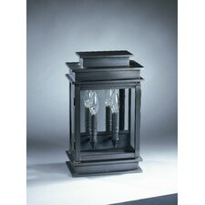 <strong>Northeast Lantern</strong> Empire 2 Candelabra Sockets Plain Mirror Wall Lantern