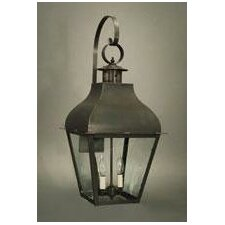 Stanfield 2 Candelabra Sockets Curved Top with Top Scroll Wall Lantern