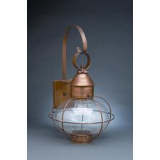 Onion Medium Base Socket Cage with Extended Scroll Wall Lantern