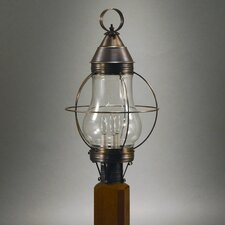 Onion 3 Light Caged Pear Post Lantern