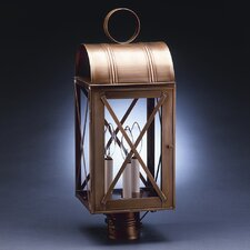 "Adams 3 Light 8"" Post Lantern"