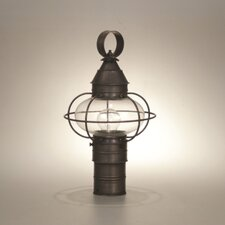 Onion Caged 1 Light Outdoor Post Lantern