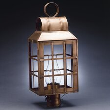 Lynn 1 Light Chimney Culvert Top H-Bars Post Lantern