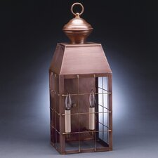 Woodcliffe Medium Base Socket with Chimney H-Rod Wall Lantern