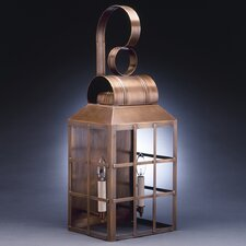 Lynn 2 Candelabra Sockets Culvert Top H-Bars Wall Lantern