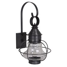 <strong>Northeast Lantern</strong> Onion Medium Base Socket Small Caged Wall Lantern
