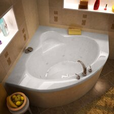 "Trinidad 60"" x 60"" Whirlpool Jetted Bathtub"