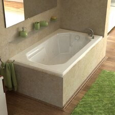 "Montserrat Dream Suite 60"" x 36"" Air and Whirlpool Jetted Bathtub"