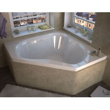 "Tobago 60"" x 60"" Air and Whirlpool Jetted Bathtub"