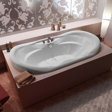 "Antigua Waterfall 70"" x 41"" Whirlpool Jetted Bathtub"