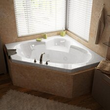 "Curacao 60"" x 60"" Whirlpool Jetted Bathtub"