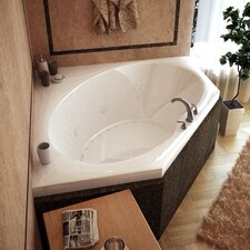 "Tortola 60"" x 60"" Air and Whirlpool Jetted Bathtub"