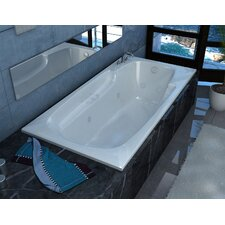 """Anguilla 60"""" x 36"""" Air and Whirlpool Jetted Bathtub"""
