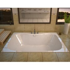 "Dominica 60"" x 40"" Whirlpool Jetted Bathtub"