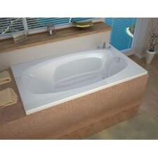 """St. Kitts 72"""" x 42"""" Air and Whirlpool Jetted Bathtub"""
