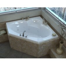 """Curacao 60"""" x 60"""" Air and Whirlpool Jetted Bathtub"""