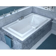 "Barbados 78"" x 46"" Air and Whirlpool Jetted Bathtub"