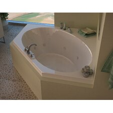 "Tortola 60"" x 60"" Whirlpool Jetted Bathtub"