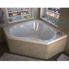 "Tobago Dream Suite 60"" x 60"" Air and Whirlpool Jetted Bathtub"