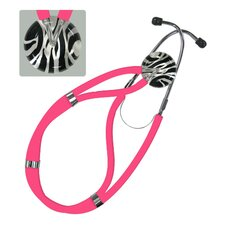 Adult Classic Stethoscope Zebra Striped Black and White Design
