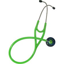 <strong>UltraScopes</strong> Adult Stethoscope Navy and Light Green Galactic Circles