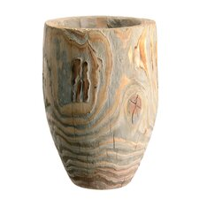 <strong>Barreveld International</strong> Paulownia Wood Round Vase