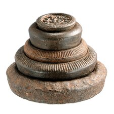 Iron Assorted Weights Statue (Set of 5)