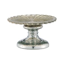 Glass Pedestal Plate