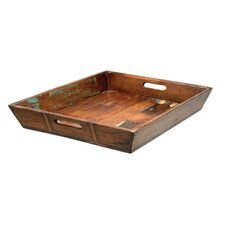 Wood Vintage Rectangular Serving Tray
