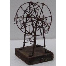 Metal Ferris Wheel Statue