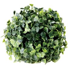 Faux Boxwood Sphere Floor Plant in Planter
