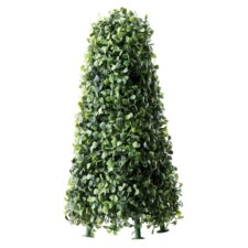 Faux Boxwood Obelisk Hedge
