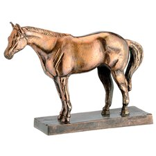 Aluminum Horse Statue on Base