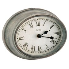 "<strong>Barreveld International</strong> 5.3""  Wood / Glass Metro Oval Clock"