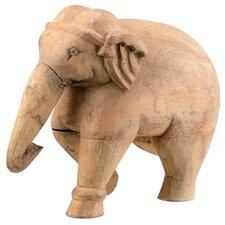 Wood Elephant Statue