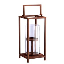 Fall Glass and Metal Lantern